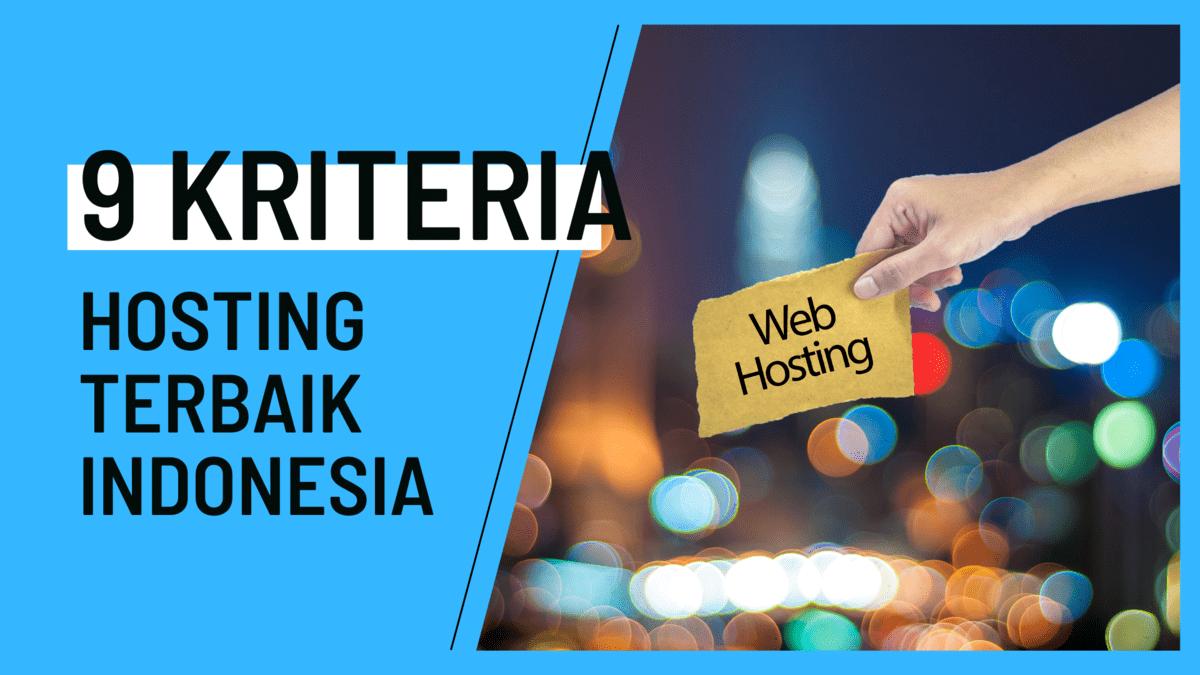 Kriteria Hosting Terbaik Indonesia